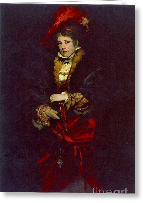 Red Plume 1873 Greeting Card