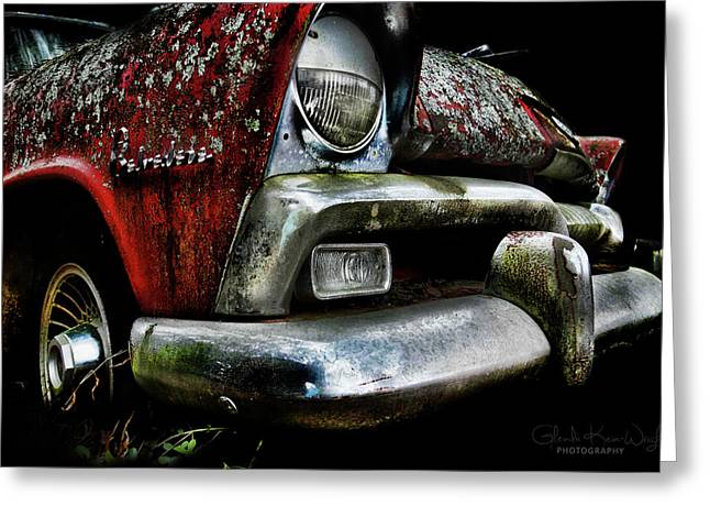 Greeting Card featuring the photograph Red Plymouth Belvedere by Glenda Wright