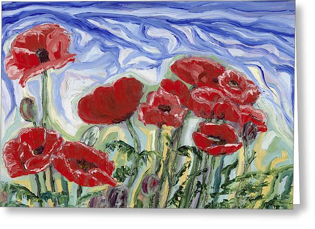 Red Poppies From Port Hardy, Bc Greeting Card
