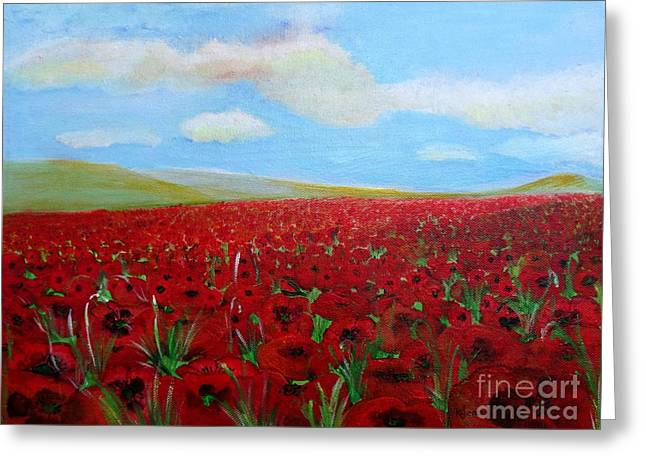 Red Poppies In Remembrance Greeting Card
