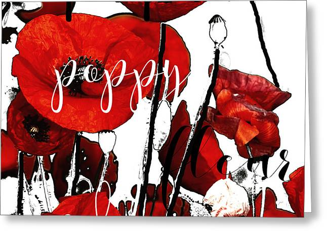 Red Poppies Greeting Card by Mindy Sommers