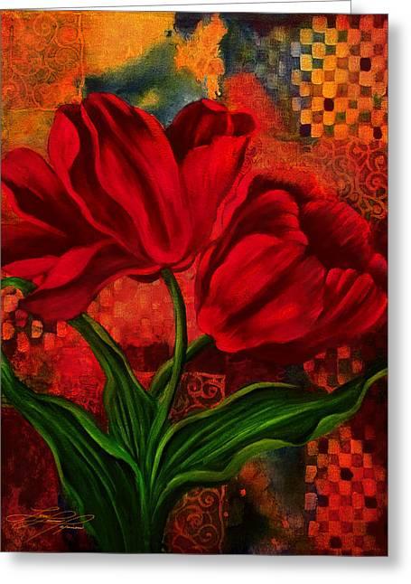 Red Poppy Greeting Card by Lynn Lawson Pajunen
