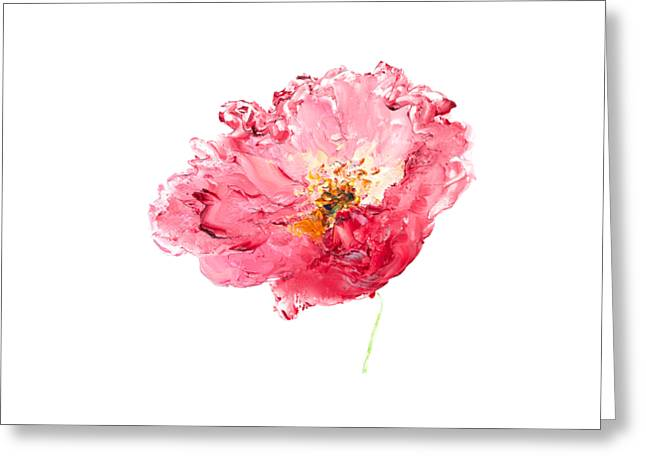 Red Poppy Painting Greeting Card by Jan Matson