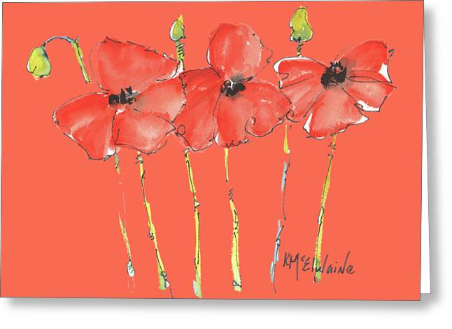 Red Poppy Play Greeting Card