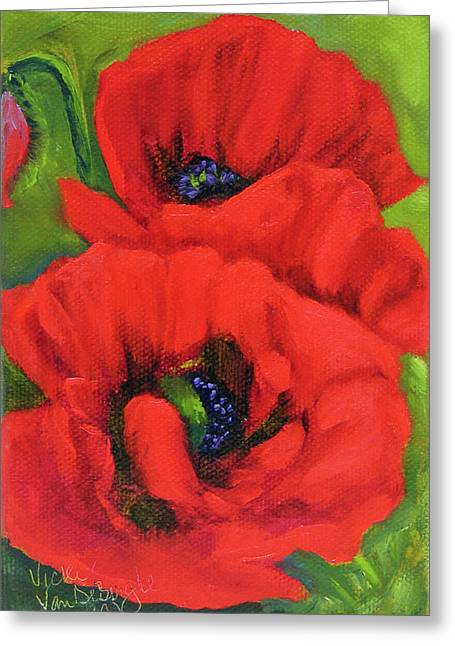 Red Poppy Seed Packet Greeting Card