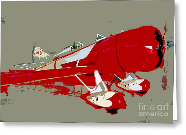 Red Racer Greeting Card by David Lee Thompson