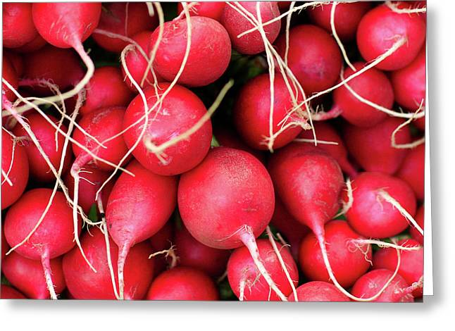 Red Radishes Greeting Card by Todd Klassy