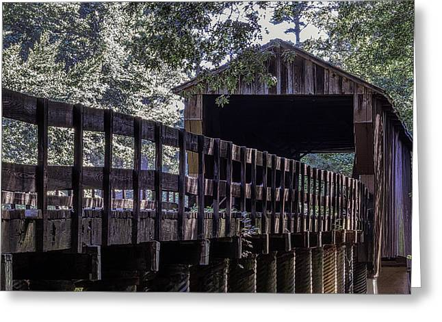 Greeting Card featuring the photograph Red Oak Creek Bridge by Randy Bayne