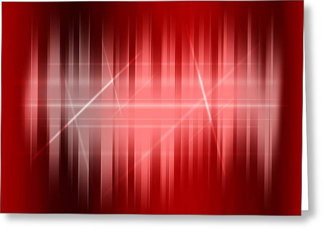 Red Rays Greeting Card by Michael Tompsett
