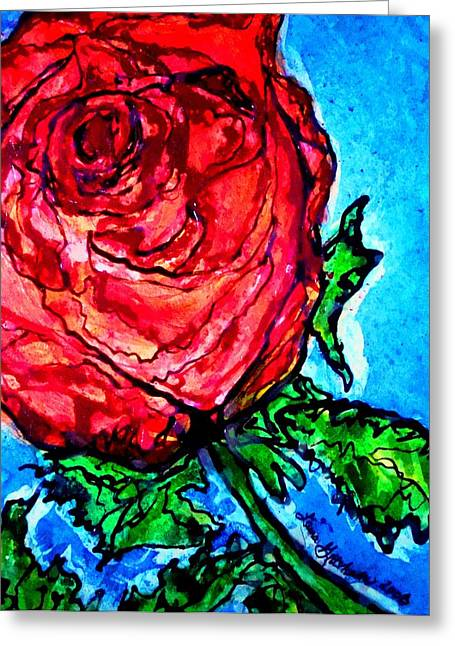 Red Red Rose Greeting Card by Laura  Grisham