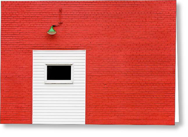 Red, Red Wall Greeting Card
