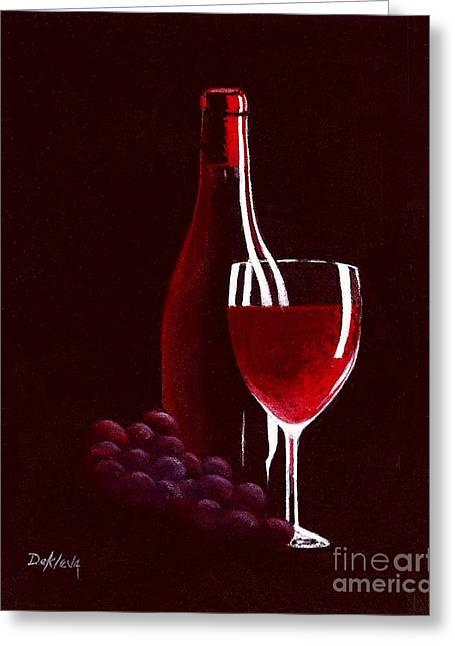 Red Red Wine Greeting Card by Joe DeKleva