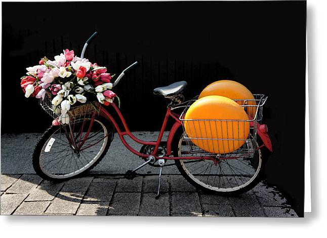 Red Retro Bicycle Greeting Card