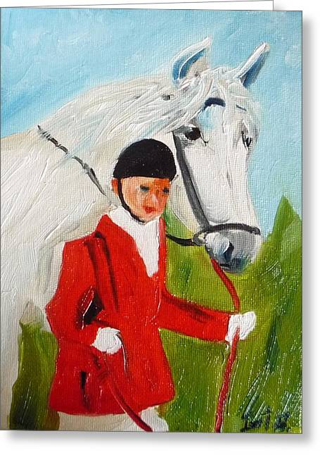 Red Riding Jacket Greeting Card by Irit Bourla