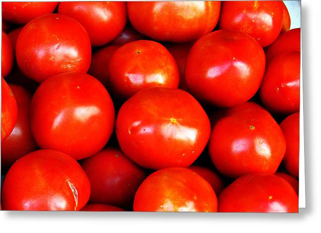 Red Ripe And Ready Greeting Card by Steve C Heckman