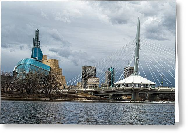 Red River At Winnipeg Greeting Card