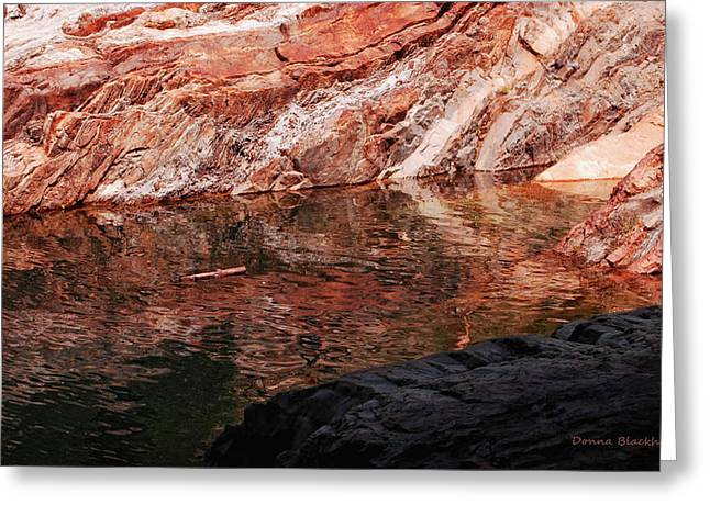 Red River Greeting Card by Donna Blackhall