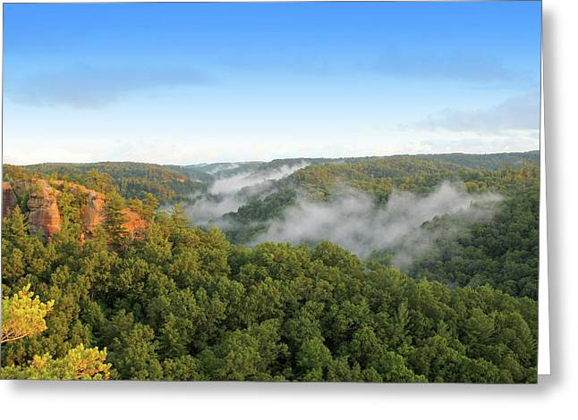 Red River Gorge Kentucky View Of Chimney Top Rock At Sunset Greeting Card by Design Turnpike