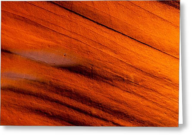 Red Rock Abstract 2 Greeting Card by Az Jackson