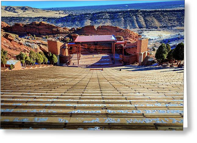 Red Rock Amphitheater Greeting Card by Barry Jones