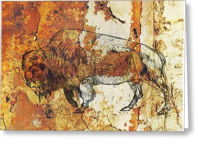 Red Rock Bison Greeting Card