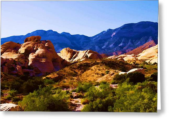 Red Rock Canyon Greeting Card by Ricky Barnard