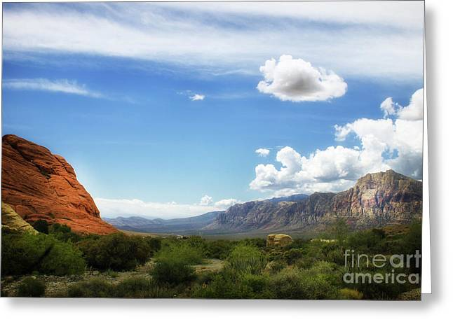 Red Rock Canyon Vintage Style Sweeping Vista Greeting Card