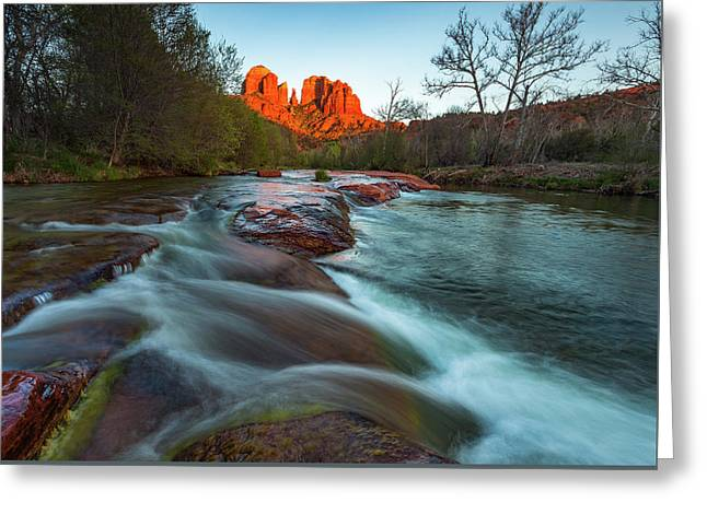 Red Rock Cascade Greeting Card