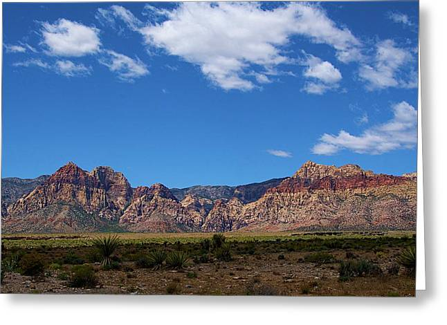 Greeting Card featuring the photograph Red Rock Caynon2 by Ralph Jones
