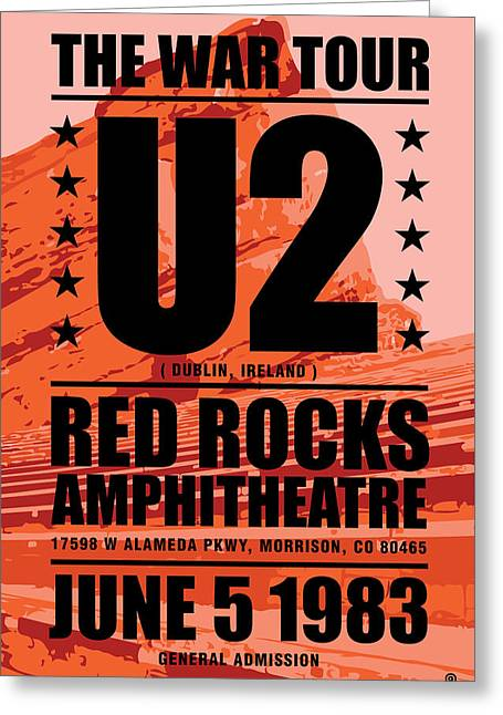 Red Rock Concert Greeting Card