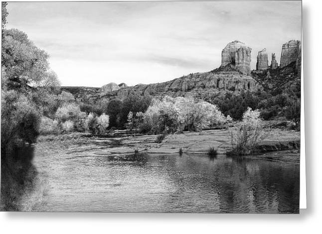 Red Rock Crossing At Cathedral Rock Greeting Card