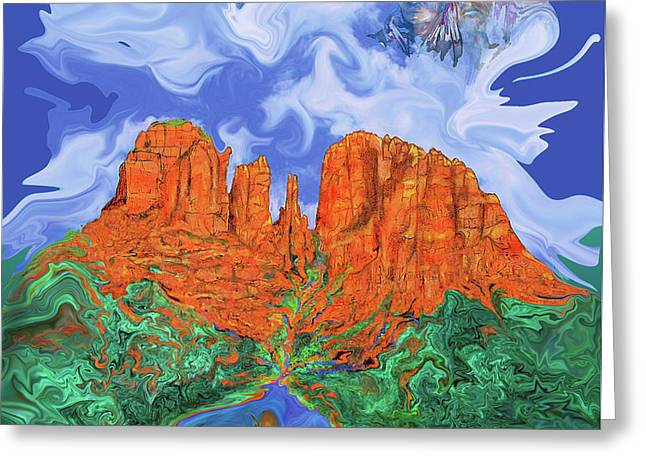 Red Rock Crossing Greeting Card by Martin Hardy