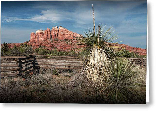 Greeting Card featuring the photograph Red Rock Formation In Sedona Arizona by Randall Nyhof