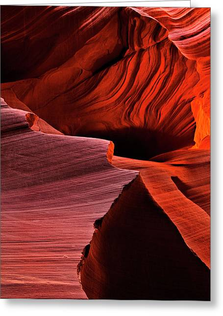 Inferno Greeting Cards - Red Rock Inferno Greeting Card by Mike  Dawson