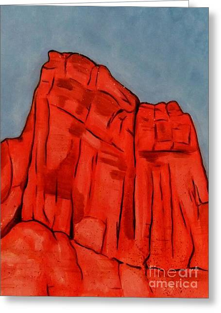 Red Rock Moab Greeting Card by Leonie Higgins Noone