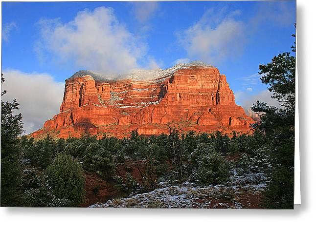 Red Rock Morning Greeting Card by Gary Kaylor