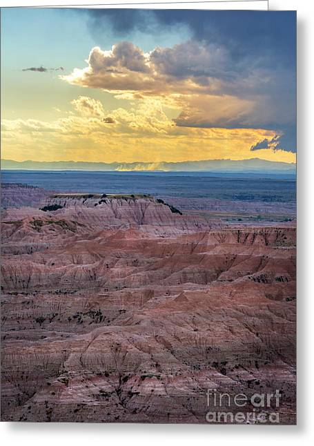 Red Rock Pinnacles Greeting Card