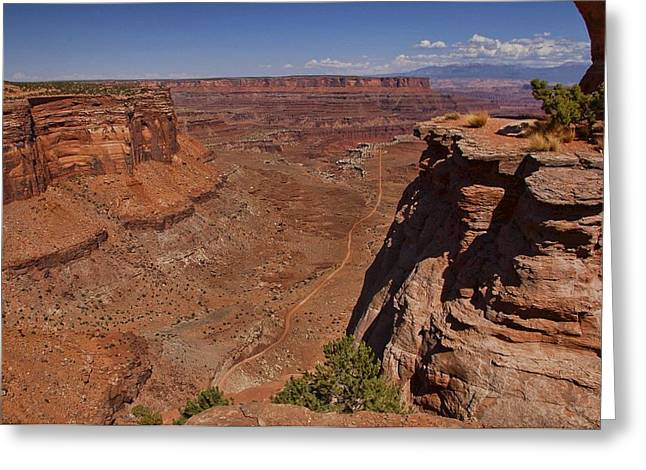 Red Rock Vista Greeting Card by Nick Roberts