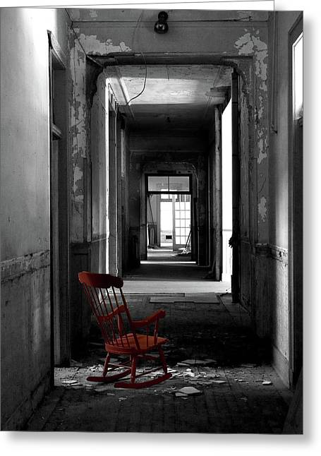 Red Rocker - Preston Castle Greeting Card