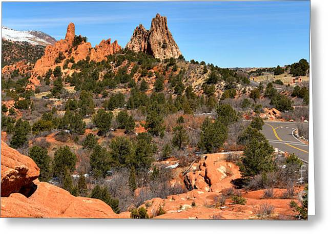 Greeting Card featuring the photograph Red Rocks At High Point by Adam Jewell