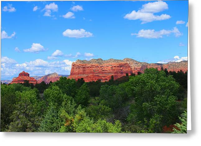 Red Rocks In Sedona Greeting Card by Olahs Photography