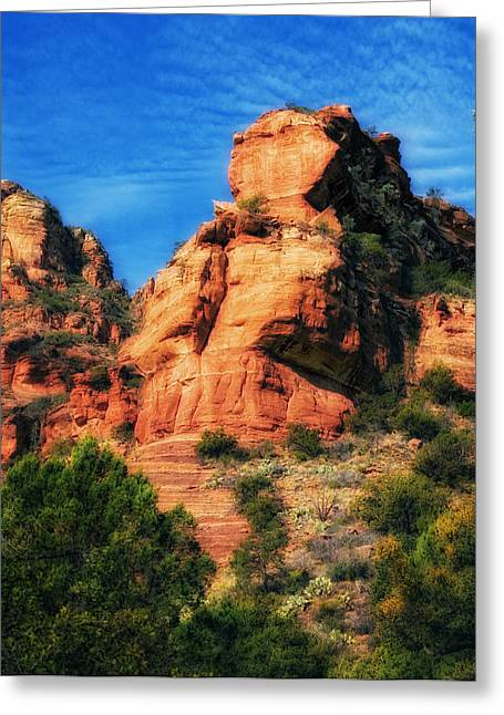 Red Rocks Number 3 In Faye Canyon Greeting Card