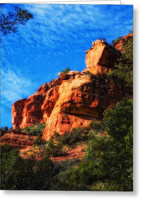 Red Rocks Number Four In Faye Canyon Greeting Card