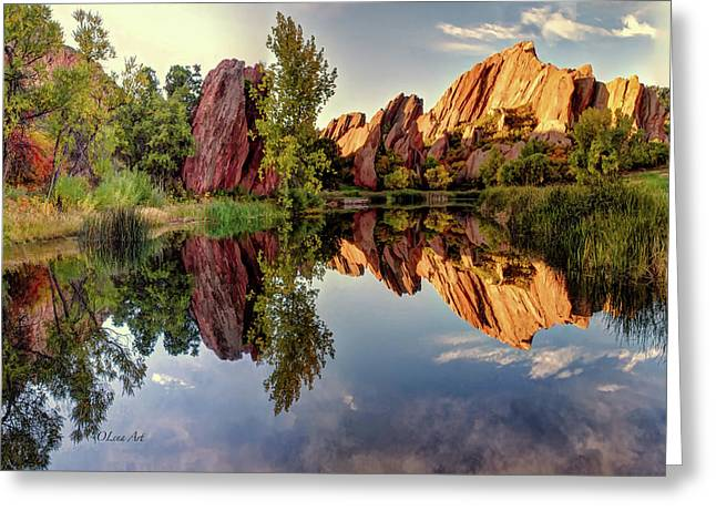 Red Rocks Reflection Greeting Card