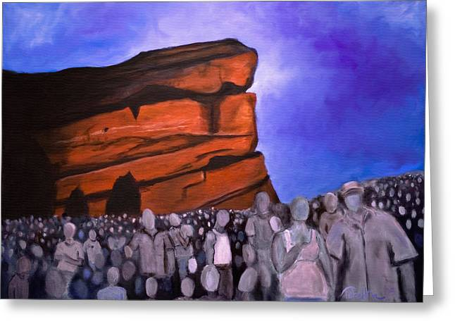 Red Rocks Greeting Card by Tabetha Landt-Hastings