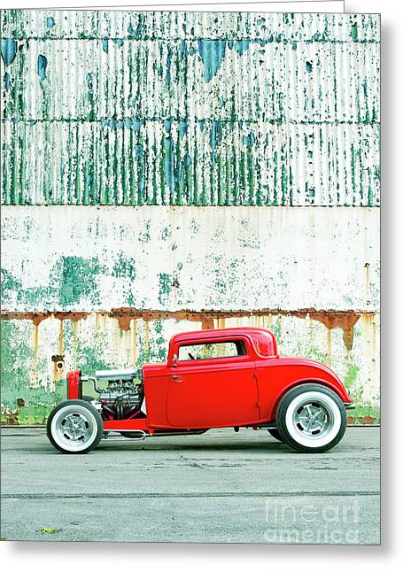 Red Rod Coupe Greeting Card by Tim Gainey