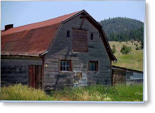 Red Roof Barn Greeting Card by Kae Cheatham