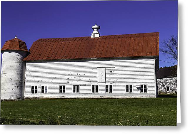 Red Roof Barn Vermont Greeting Card by Garry Gay