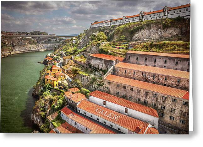 Red Roofs Of Porto Greeting Card