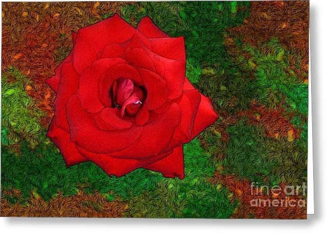 Red Rose 2 Greeting Card by Jean Bernard Roussilhe